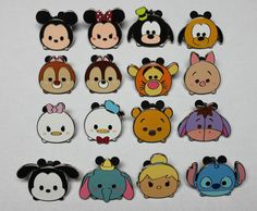 Disney TSUM TSUM Characters Mystery Pin COMPLETE SET of 16