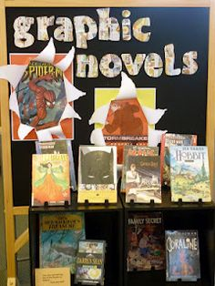 All kinds of displays for the school library media center!