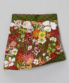 Love this Green & White Prairie Reversible A-Line Skirt - Toddler & Girls on #zulily! #zulilyfinds