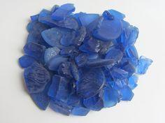 Blue Sea Glass For Wedding Crafts Beach House Decor by CereusArt, $15.00