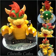 Bowser Cake (Character from Mario) by Clairella Cakes