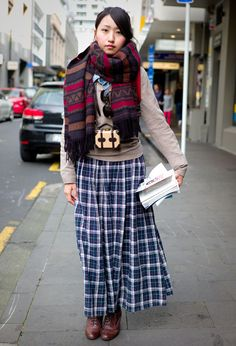 plaid/scarf and excellent. Chiaru in Auckland. Better Weather, Auckland, Plaid Scarf, The Twenties, Style Fashion, Most Beautiful, Photos, Street Style, Awesome