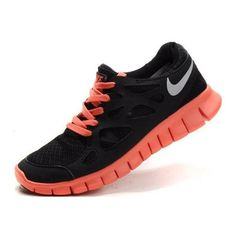 separation shoes 96500 a012d New Black Reflective Silver Bright Mango Nike Free Run 2 Womens Free  Running Shoes