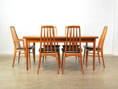 Six Koefoed Eva Dining Chairs Teak Danish Modern by MadsenModern