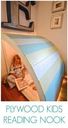 reading nook. Put lights underneath.  Maybe a flat space at the top with a cushion, too?  some rock climbing grips?  could be indoor playspace.