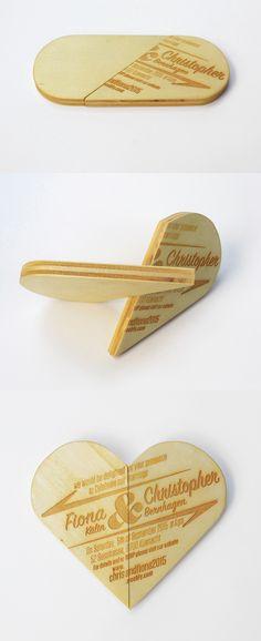 Wooden Wedding Invitation • Design by L'ALTRO Zurich