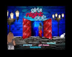 "website design for ""Girls Night Out"""