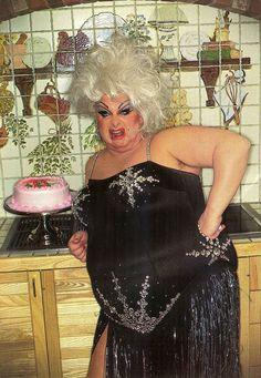 """Another birthday another fucking cake"" Divine. Photo: Bill Bernardo"