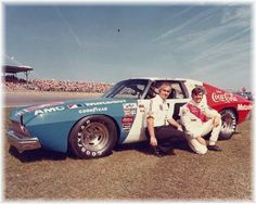 Roger Penske & Bobby Allison with their AMC Matador