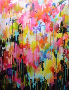 ELENA abstract painting huge 30x40 contemporary by ElenasArtStudio, $369.00