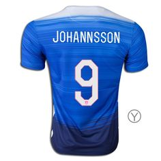 2015 Aron Johannsson Youth Away Jersey #9 USA Soccer