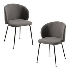 ¿Buscas sillas de comedor cómodas y compactas? Has llegado al modelo correcto. El diseño curvo de las sillas LIZA se adapta muy bien a la espalda y como su respaldo es bajo, las puedes acercar mucho a la mesa para que quepan más comensales. Las sillas están tapizadas en color gris oscuro y el respaldo es desenfundable. Las patas son de acero galvanizado en color negro. Se vende en pack de 2 unidades, si necesitas otra cantidad, contacta con nosotros. #silla #sillas #sillatapizada #sillagris Color Negra, Dining Chairs, Furniture, Home Decor, Black Chairs, Fabric Dining Chairs, Charcoal Color, Grey Colors, Black People