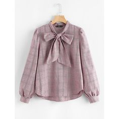 To find out about the Bow Tie Neck Glen Plaid Blouse at SHEIN, part of our latest Blouses ready to shop online today! Muslim Fashion, Hijab Fashion, Korean Fashion, Fashion Dresses, Cute Fashion, Trendy Fashion, Bluse Outfit, Hijab Stile, Looks Plus Size
