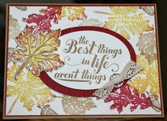 Fall Blog hop time and I am sharing this card using the Gently Falling Stamp Set from Stampin'UP! with the Rock-n-Roll technique.