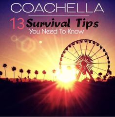 Coachella Festival Survival Guide: 13 Tips To Make Your Trip The Best Ever - what to wear to Coachella music festival - outfit ideas