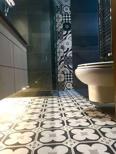 Bathroom Design Floor and Walls : Cimentine B&W 20*20 mixed color by…
