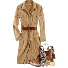 Perfect coat for a safari adventure! Safari Outfits, Safari Dress, Safari Shirt, Chic Outfits, Fashion Outfits, Womens Fashion, Fashion Ideas, African Safari, Blazer