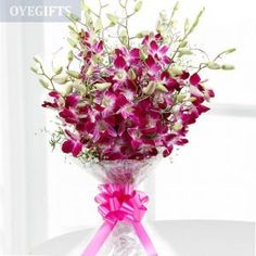 Cheap Flowers Delivery Delhi: Finding flower delivery in Delhi at same day? So, contact to us for online florist in Delhi, who deliver flowers in Delhi in real time. Cheap Flowers, Send Flowers, Bunch Of Flowers, Simple Flowers, Beautiful Flowers, Purple Orchid Bouquet, Purple Orchids, Rose Bouquet, Home Flowers