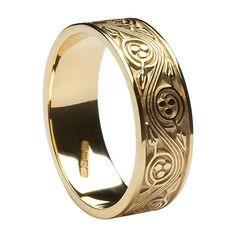 Neala Triscele Weave Ring (C-3759) - Celtic Wedding Rings
