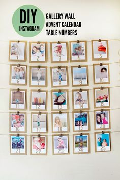 bree johnson : Instagram Table number and Advent Wall.