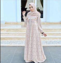 Dress Brukat, Hijab Dress Party, Hijab Style Dress, Kebaya Dress, Dress Pesta, Trend Fashion, Abaya Fashion, Modest Fashion, Fashion Dresses