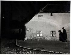 """""""Bocskay-ter, Budapest"""" by Andre Kertesz (1914)    Kertesz was a genius of photography.  This picture is of his brother, and according to the description, the exposure time was over a minute."""
