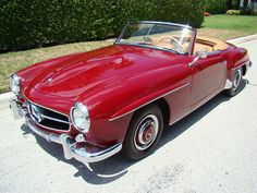 Oh lord, won't you buy me....  There is nothing about this car that isn't beautiful. 1960 Mercedes Benz 190SL. Gorgeous. Someday...