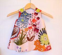 Summer Totem in Grapefruit Baby Toddler Girl by KKchildrendesigns, $39.00
