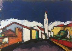 Nuvole - acrylics and oil on canvas cm. 70x50