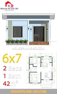 Simple House Plans with 2 bedrooms Shed Roof - House Plans Tiny House Plans Free, Unique House Plans, Small House Floor Plans, Beach House Plans, Cabin Floor Plans, Cottage House Plans, Bedroom House Plans, Underground House Plans, Drawing House Plans