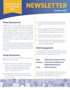 Charleswood Area Transportation Study Newsletter 1/2
