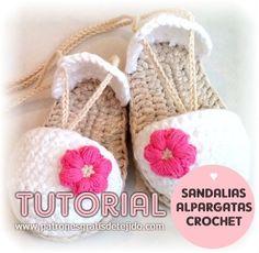 Tutorial de sandalias tipo alpargatas para bebes