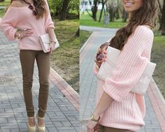 love this pink sweater!