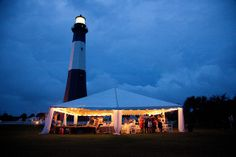 Real Wedding at Tybee Island ~ Love this AND that it was at the lighthouse =D I love lighthouses ♥
