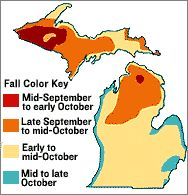 Best times to see fall colors in Michigan by region. I need to do this. Fall will be over before we know it!