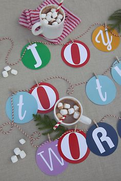 Free Printable: alphabet garland