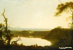 View of lake nemi, with mount circeo beyond Artwork by Joseph Wright of Derby Hand-painted and Art Prints on canvas for sale,you can custom the size and frame