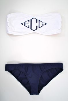 Love this monogrammed swimwear