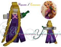 Escultura en cinta de la Princesa Rapunzel de Enredados!!