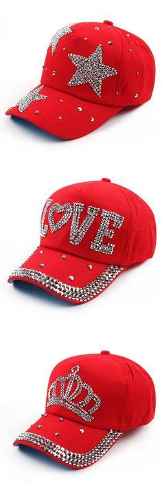 High Quality new fashion rhinestone crystal crown children baseball caps brand popular beauty snapbacks hats for boy girls child
