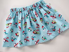Penguin Skirt    Very cute toddler and girls Winter Penguin Skirt. Each skirt is made to order based on standard sizes. For your perfect fit