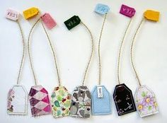 Tons of Scrap Fabric Sewing Projects DIY Tea Bag Bookmarks made out of s. - Tons of Scrap Fabric Sewing Projects DIY Tea Bag Bookmarks made out of scrap fabric and oth - Diy Bookmarks, How To Make Bookmarks, Ribbon Bookmarks, Sewing Hacks, Sewing Crafts, Sewing Tips, Sewing Tutorials, Sewing Art, Diy Tea Bags