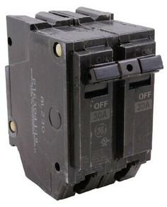 Wadsworth Type A A230 30-Amp 2-Pole 30A 2P 120//240V Circuit Breaker metal feet!