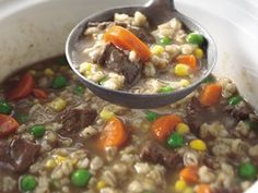 Slow Cooker Beef and Barley Soup - Holidays