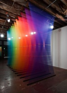 Rainbow art installation...I wish people who credit the artists...who made this?  #rainbow