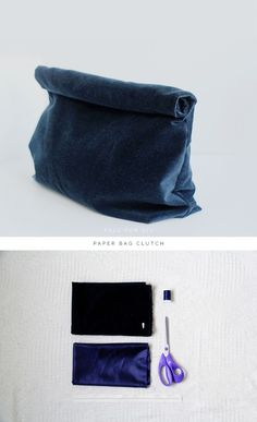 Fall For DIY Paper Bag Clutch tutorial how to