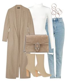 """Untitled #2709"" by theeuropeancloset on Polyvore featuring Topshop, Wolford, The Row and Gucci"