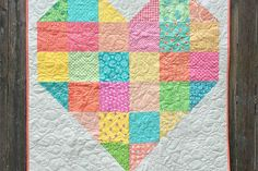 Is your Valentine in need of a warming quilt? This Patchwork Heart quilt should do the trick!