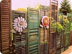 Shutters and bamboo shades for dividers and cover ups.
