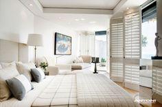strandhaus schlafzimmer falttüren maritim flair weiß